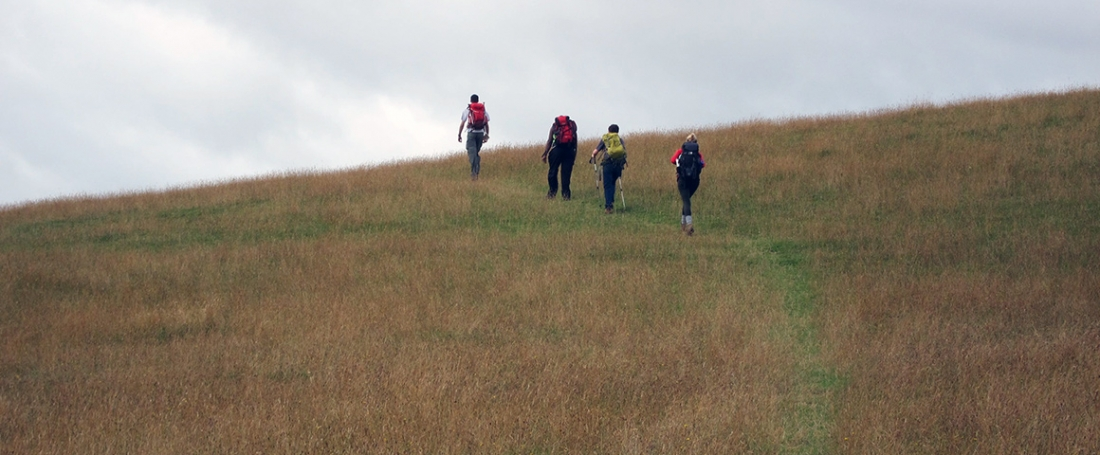 trekkers-on-hill